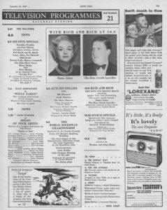 Radio Times, 21-09-1957