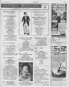 Radio Times, 23-11-1957