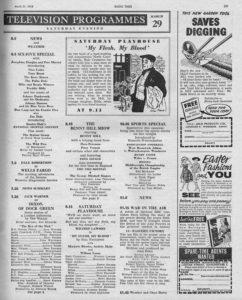 Radio Times, 29-03-1958